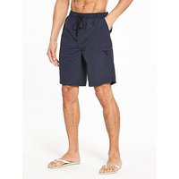V by Very Longer Length Swim Short, Navy, Size Xs, Men