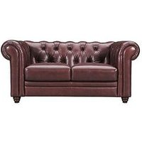 Product photograph showing Chester Premium Leather 2 Seater Sofa