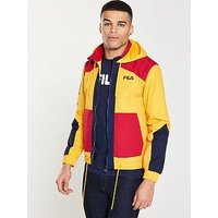 Fila Fila Black Line Earl Color Block Zip Jacket, Yellow, Size Xl, Men