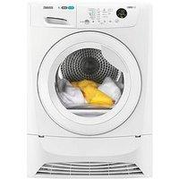 Zanussi Zdc8203Wr 8Kg Condenser Sensor Tumble Dryer - White