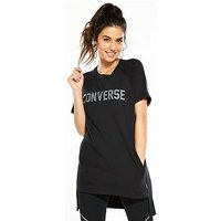 Converse Short Sleeve Sweatshirt Dress - Black , Black, Size Xs, Women