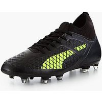 Puma Puma Future Mens 18.3 Firm Ground Football Boot, Black/Yellow, Size 7, Men