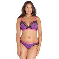 Curvy Kate Dragonfly Plunge Bra, Black/Pink, Size 40Ff, Women