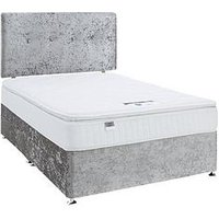 Luxe Collection By Silentnight Francesca 1000 Pillowtop Super King Divan Bed With Storage Options (Includes Headboard!)
