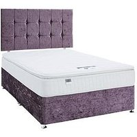 Luxe Collection By Silentnight Fearne 1000 Pillowtop Violet Divan Bed With Storage Options (Includes Headboard!)