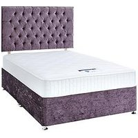 Luxe Collection By Silentnight Florence 1000 Memory Divan Bed And Storage Options (Includes Headboard!) Violet