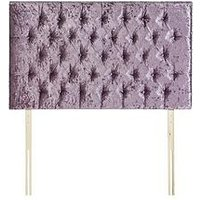 Luxe Collection By Silentnight Florence Fabric Headboard - Violet