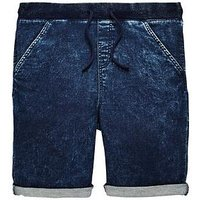 V by Very Boys Blue Ribbed Jog Shorts, Blue, Size Age: 6 Years