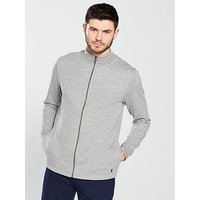 Polo Ralph Lauren Zip Though Loungetop, Grey Heather, Size L, Men
