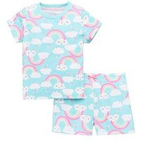 Mini V by Very Girls Cloud And Rainbow PJ, Multi, Size Age: 9-12 Months, Women