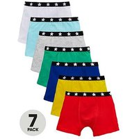 Mini V by Very Boys 7 Pack Trunks, Multi, Size 4-5 Years