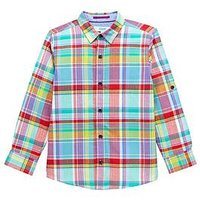 Baker by Ted Baker Boys' Multi-Coloured Checked Shirt, Multi, Size 6 Years