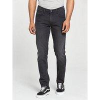 Lee Jeans Luke Slim Tapered Fit Jeans, Washed Black, Size 32, Length Short, Men