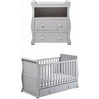 East Coast East Coast Alaska Cot Bed & Dresser Changer - Grey, Grey