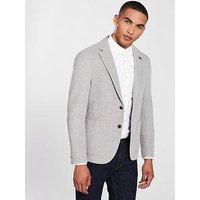 Tommy Hilfiger Standalone Jersey Blazer - Grey, Grey, Size 48=Uk38, Men