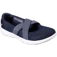 Skechers GoWalk Lite Slip On Shoe - Navy , Navy / White, Size 5, Women