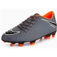 Nike Hypervenom Phade III Firm Ground Football Boots, Grey, Size 11, Men