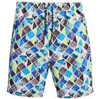 V by Very Boys Photographic Print Board Shorts, Multi, Size Age: 10 Years