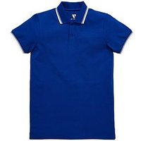 V by Very Boys Tipped Polo Shirt - Blue, Blue, Size 13 Years