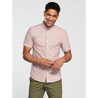 Farah Brewer Short Sleeve Shirt, Currant, Size M, Men