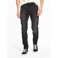 Farah Drake Stretch Slim Jean, Charcoal, Size 34, Length Short, Men