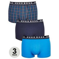 Hugo Boss 3pk Print/plain Trunk, Blue, Size M, Men