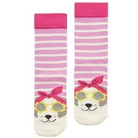 Joules Baby 2 Pk Socks - Cat/Dog, Multi, Size 2-3 Years