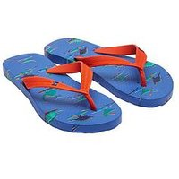 Joules Boys Flip Flop, Blue, Size 3 Older