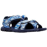Joules Boys Printed Canvas Sandal, Navy, Size 1 Older