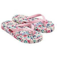 Joules Girls Flip Flop, Pink, Size 1 Older