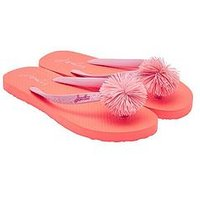 Joules Girls Flip Flop, Bright Orange, Size 8 Younger