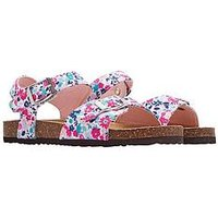 Joules Girls Tippy Toes Strap Sandal, Pearl, Size 2 Older