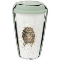 Product photograph showing Royal Worcester Wrendale Travel Mug Ndash Owl