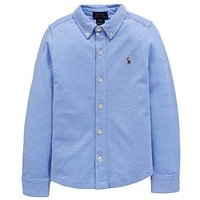 Ralph Lauren Boys Jersey Oxford Shirt, Harbour Island Blue, Size 14-16 Years=L