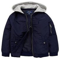 Ralph Lauren Boys Bomber Jacket, Newport Navy, Size Age: 4 Years