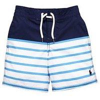 Ralph Lauren Boys Stripe Swimshort, Newport Navy Multi, Size 18-20 Years=Xl