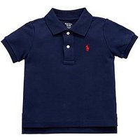 Ralph Lauren Baby Boys Short Sleeve Polo, French Navy, Size 3 Months