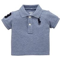 Ralph Lauren Baby Boys Big Pony Short Sleeve Polo, Capri Blue Heather, Size 6 Months