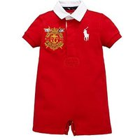 Ralph Lauren Baby Boys Rugby All In One, Red, Size 9 Months