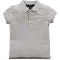 Ralph Lauren Girls Short Sleeve Polo, Andover Heather, Size Age: 6 Years, Women