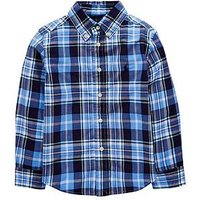 Ralph Lauren Boys Long Sleeve Check Shirt, Blue Multi, Size 8 Years=S
