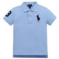 Ralph Lauren Boys Big Pony Short Sleeve Polo, Austin Blue, Size 6 Years