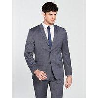 Calvin Klein Modern Textured Suit Jacket - Cerulean Blue, Cerulean Blue, Size 58=Uk48, Men