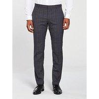 Calvin Klein Calvin Klein Modern Glen Check Suit Trouser, True Navy, Size 56=Uk40In, Men