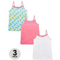 V by Very 3 Pk Pinapple Vests, Multi, Size 10 Years, Women