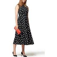 L.K. Bennett Marlina Polka Dot Sleeveless Dress - Black