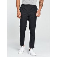 V by Very Tailored Stretch Jogger Trouser, Dark Navy, Size 36, Inside Leg Regular, Men
