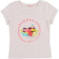 Billieblush Girls Banana Split Short Sleeve T-shirt, Pale Pink, Size Age: 5 Years, Women