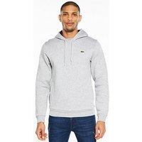Lacoste Sportswear Overhead Hoodie, Grey, Size 3, Men