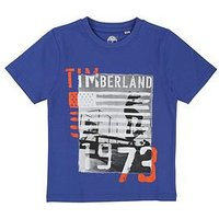 Timberland Boys Short Sleeve Graphic Print T-Shirt, Electric Blue, Size 12 Years
